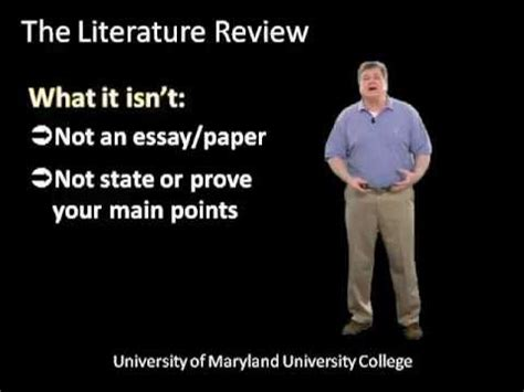 Review of literature in research proposal